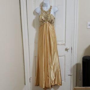 Formal dress gold